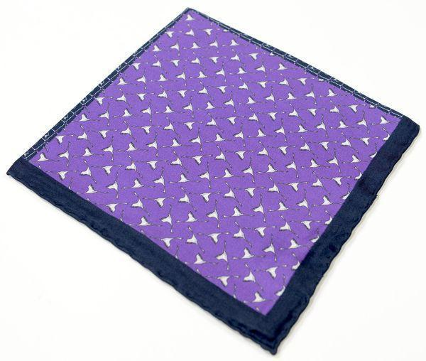 Silk Pocket Square  - Purple