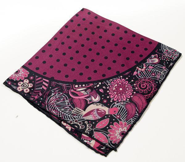 Silk Pocket Square  - PURPLE - Ron Tomson