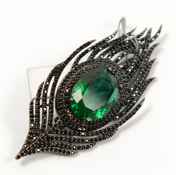 Silver Feather Brooch - PN-1970