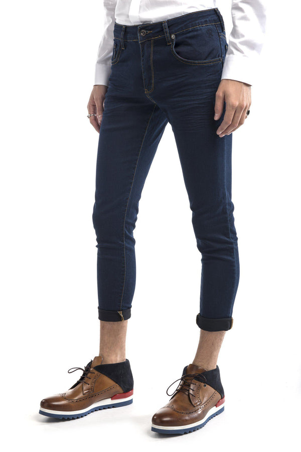 Slim Fit Commuter Jeans-Jeans-Ron Tomson-NAVY-28-Ron Tomson