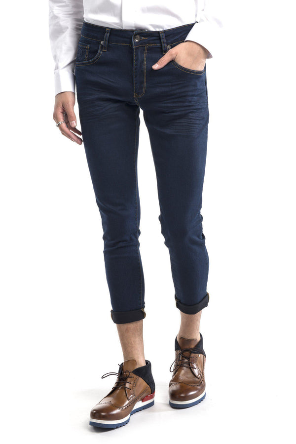 Skinny Fit Jeans - Navy - Ron Tomson