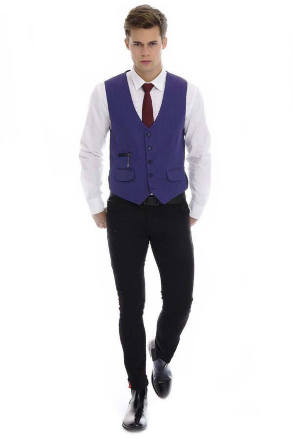 Sleek V-Shaped Vest - More Colors - Ron Tomson