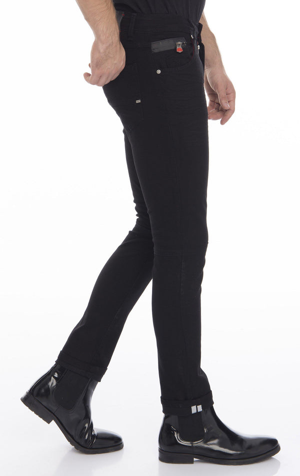 Slim Fit Commuter Jeans - Black