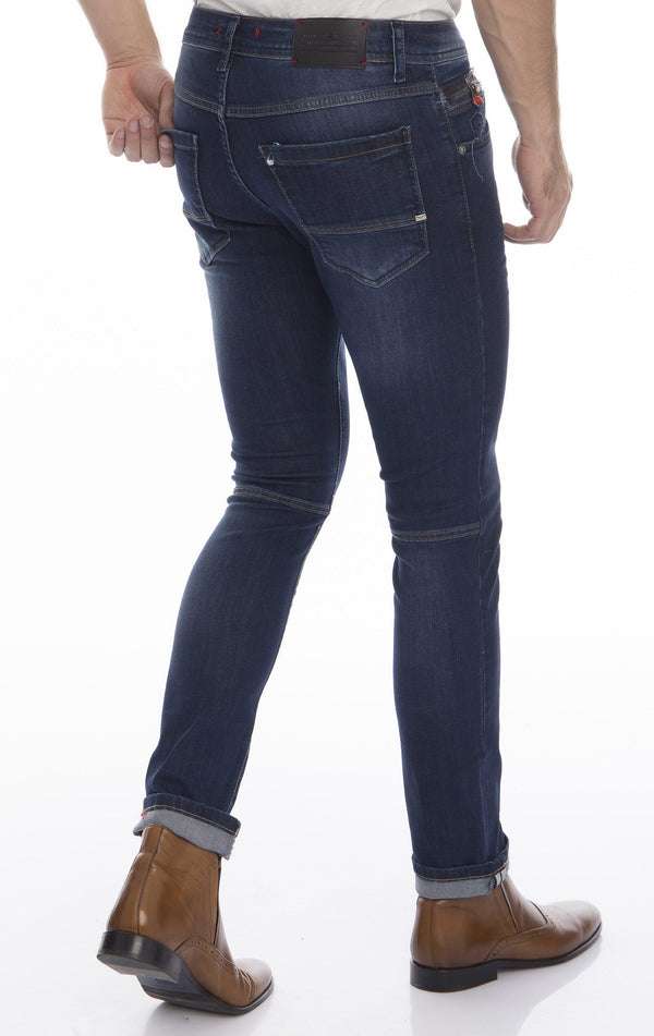 Slim Fit Commuter Jeans - Navy