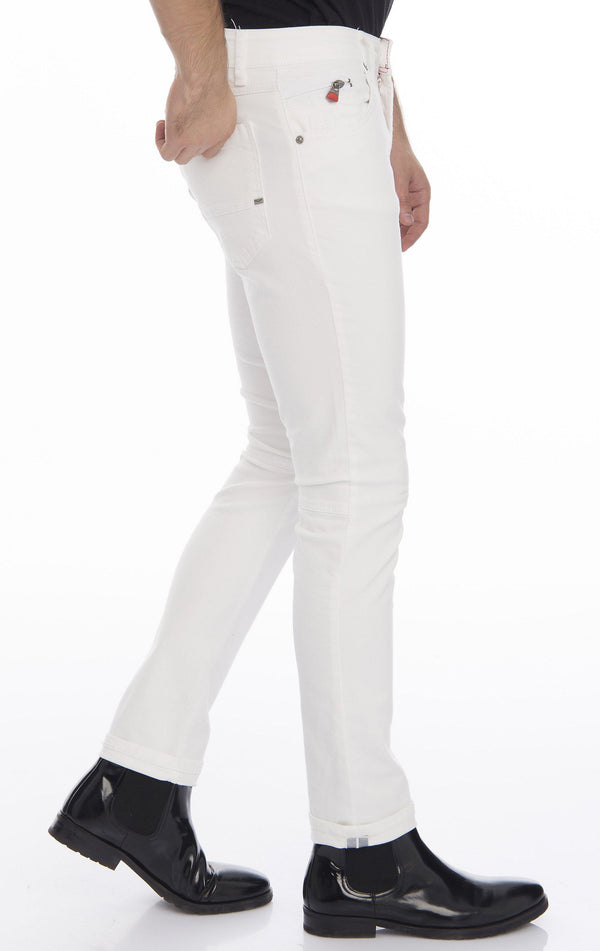 Slim Fit Commuter Jeans - White