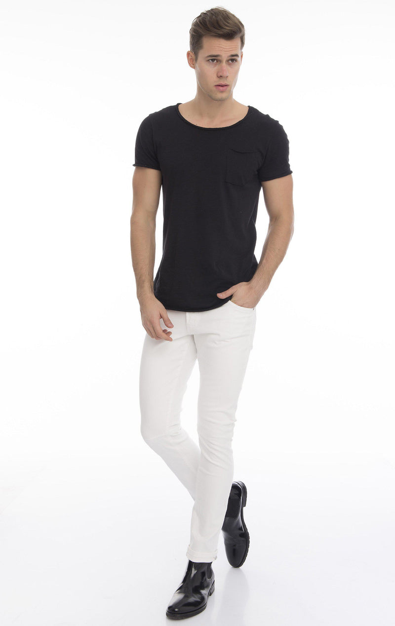 Slim Fit Commuter Jeans - White - Ron Tomson