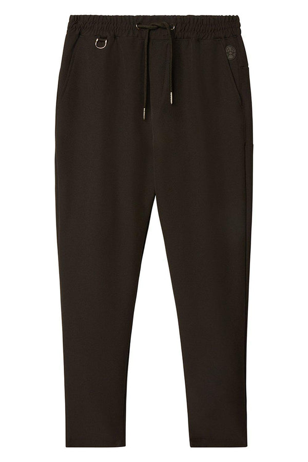 Slim Fit Drawcord Track Pant - Black
