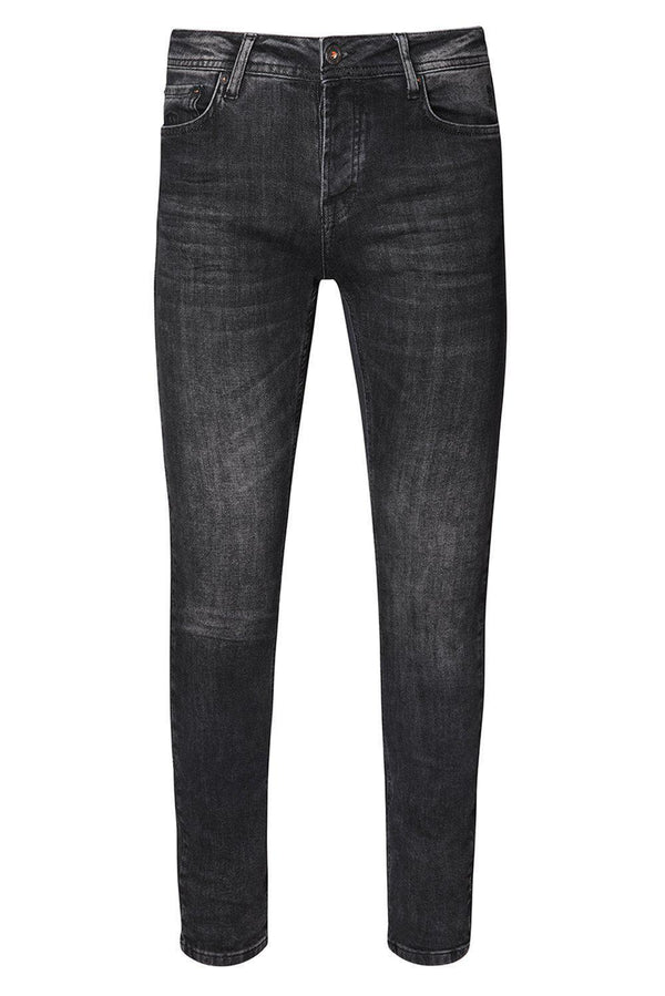 Slim Fit Jeans - Black White - Ron Tomson