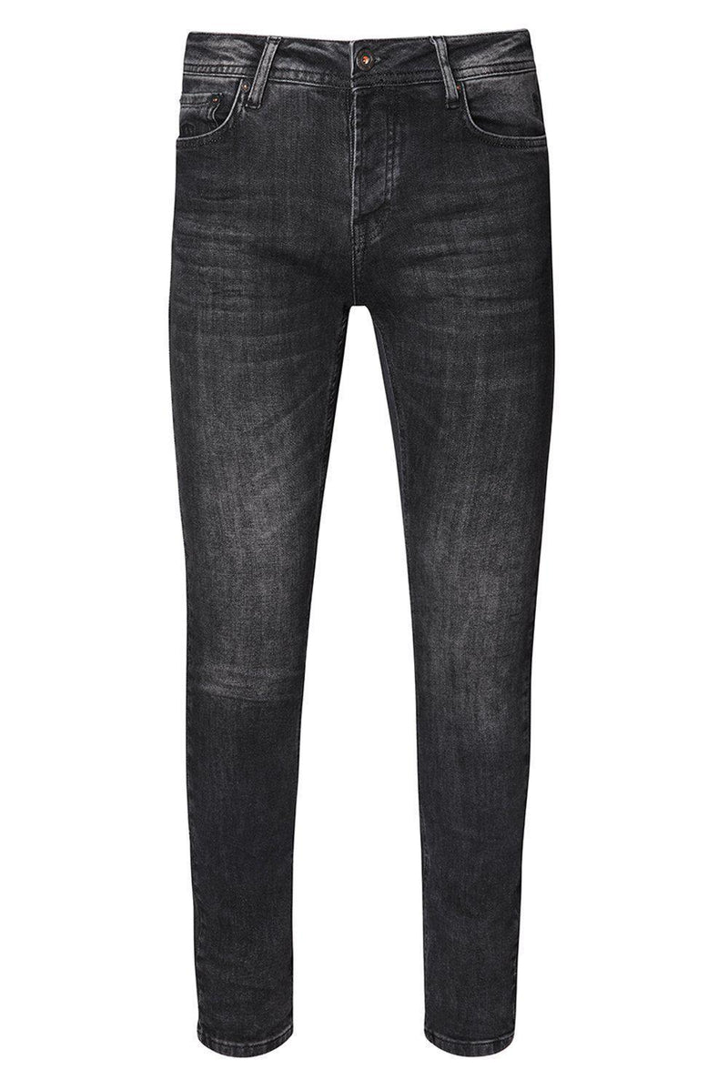 Slim Fit Jeans - Black White
