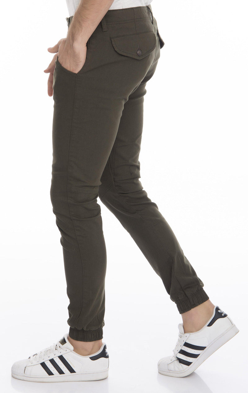 Ankle Tight Slim Fit Jogger Pants - More Colors-Jeans-Ron Tomson-CAMEL-29-Ron Tomson