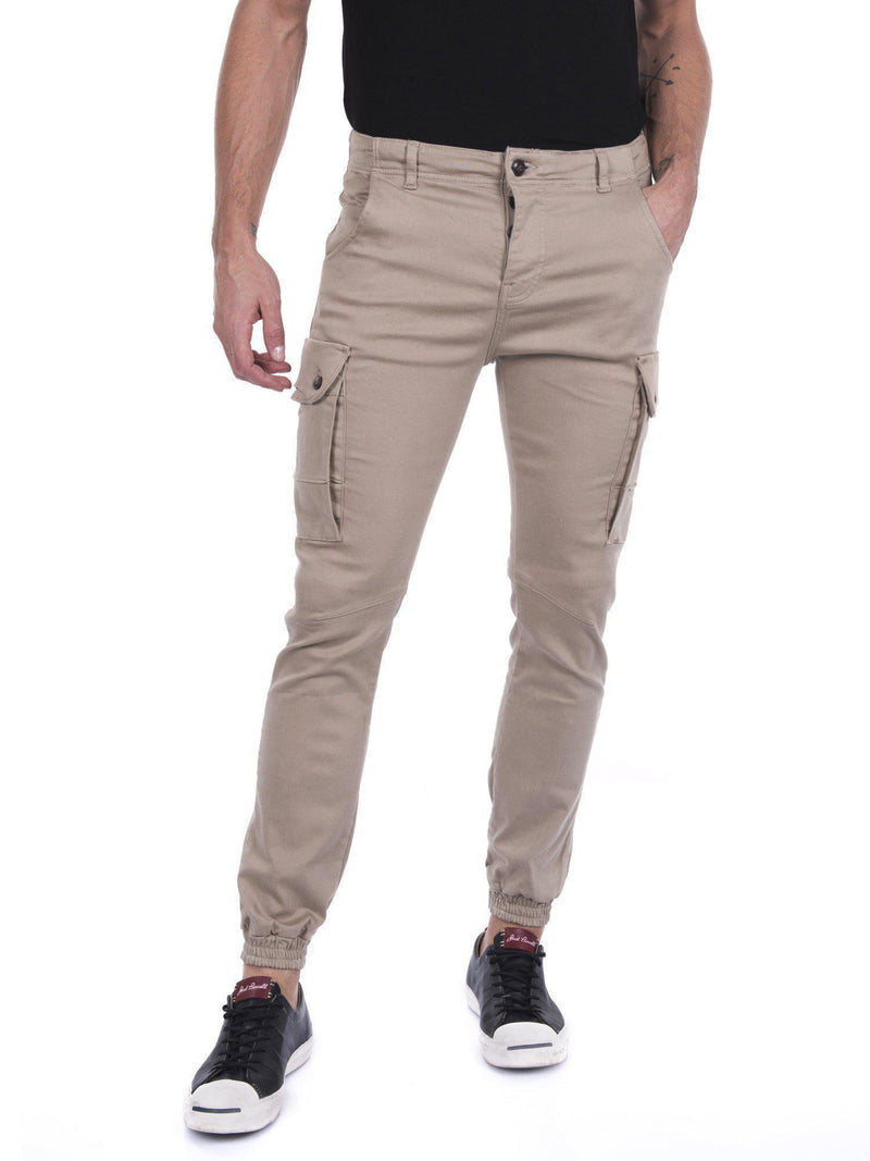 Slip Pocket Ankle Tight Jeans - Camel - Ron Tomson