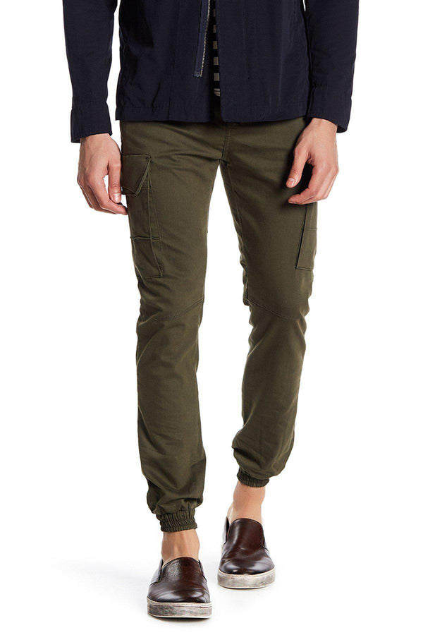 Slip Pocket Ankle Tight Jeans - Khaki