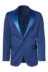 SOHO TWO BUTTON PEAK LAPEL TUXEDO - ROYAL BLUE - Ron Tomson