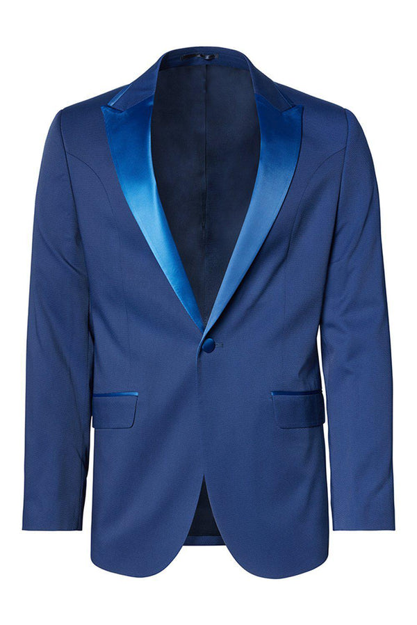 SOHO TWO BUTTON PEAK LAPEL TUXEDO - ROYAL BLUE
