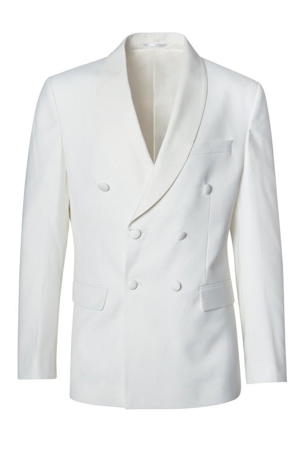 Solid Double Breasted Tuxedo - Beige - Ron Tomson