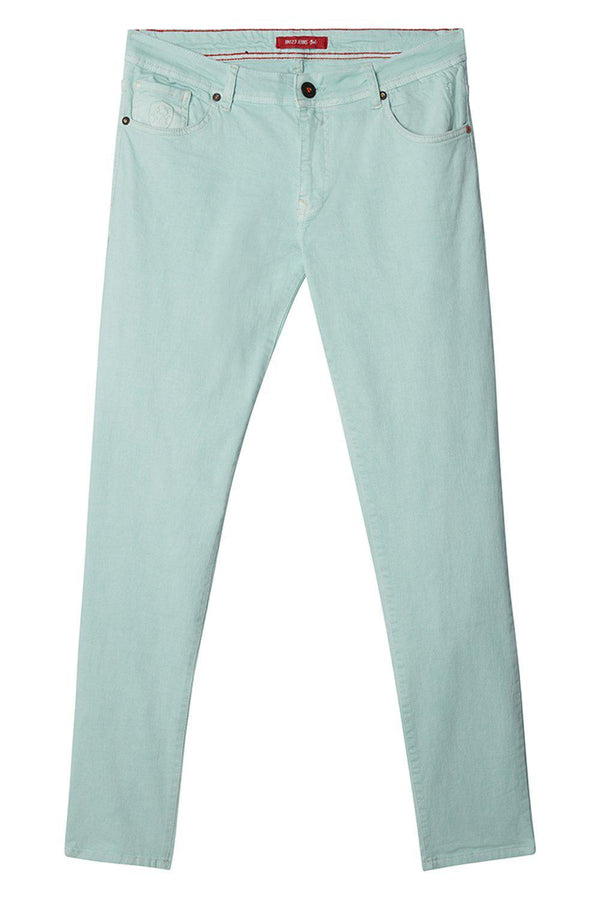 Spring Tapered Denim - Mint Green - Ron Tomson