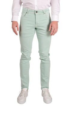 Spring Tapered Denim - Mint Green