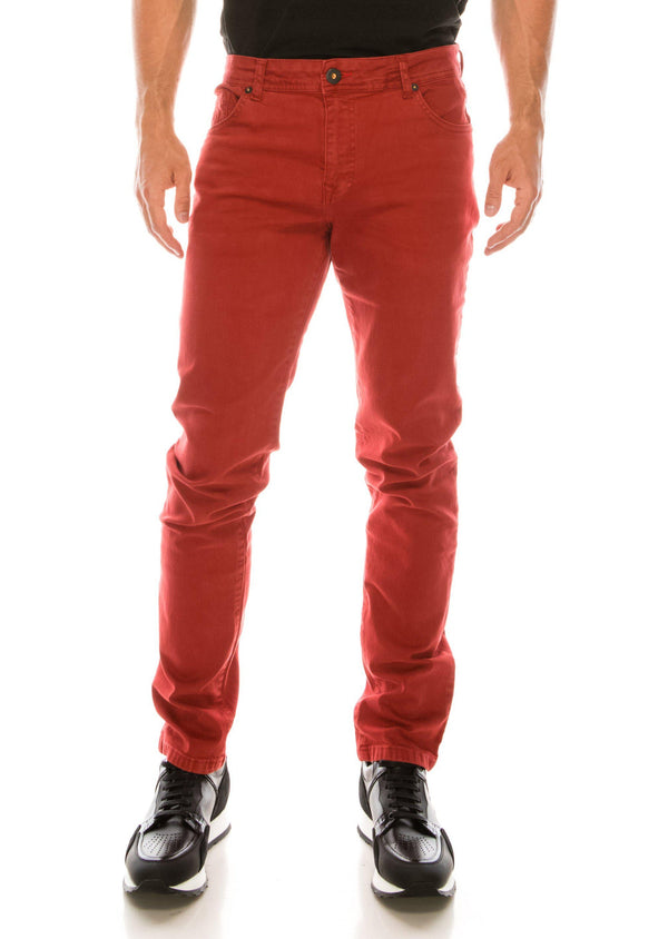 Spring Tapered Denim - Red - Ron Tomson