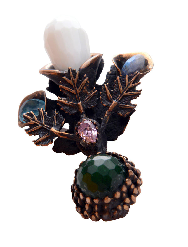 Stones and Leaves Pendant Brooch - Ron Tomson