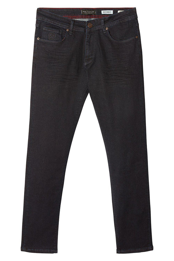 Straight Taper Denim Jeans - DARK NAVY
