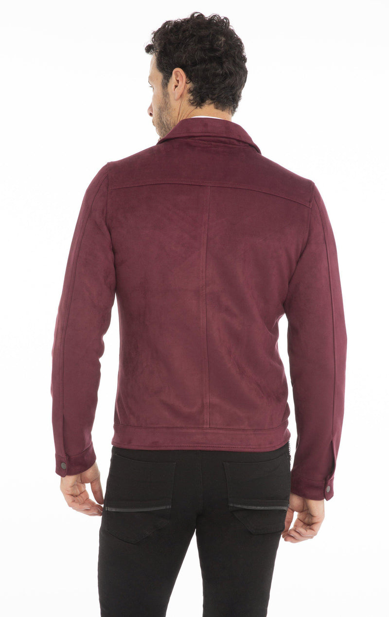 Stretch Suede Finish Shirt Jacket - More Colors - Ron Tomson