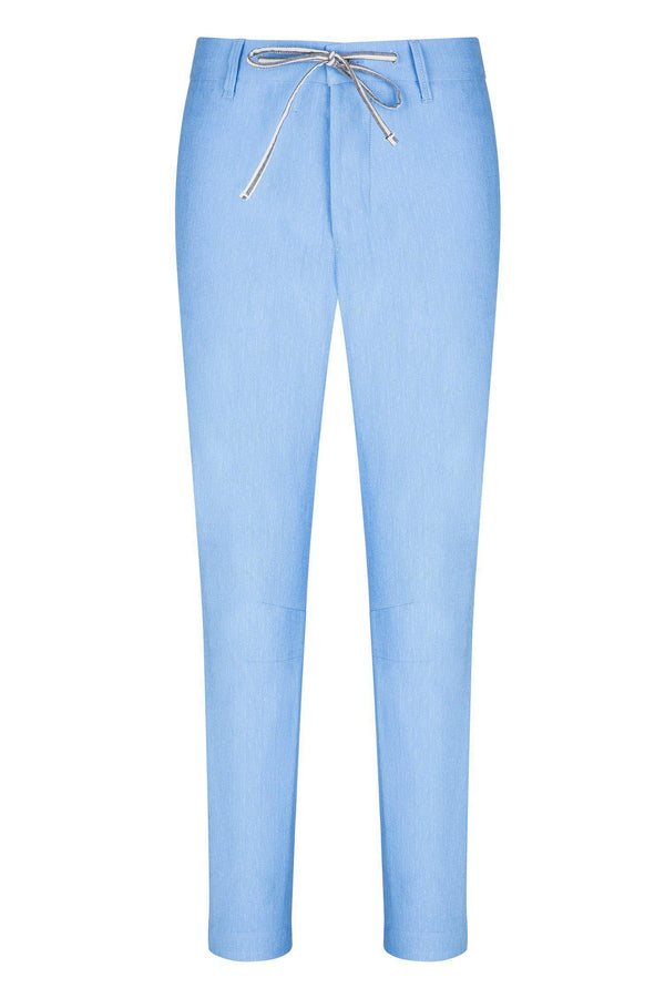 Striped Cuff Pants - Blue - Ron Tomson