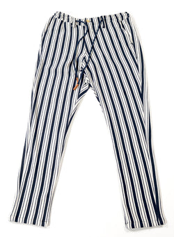 Striped Nautical Trouser - Navy