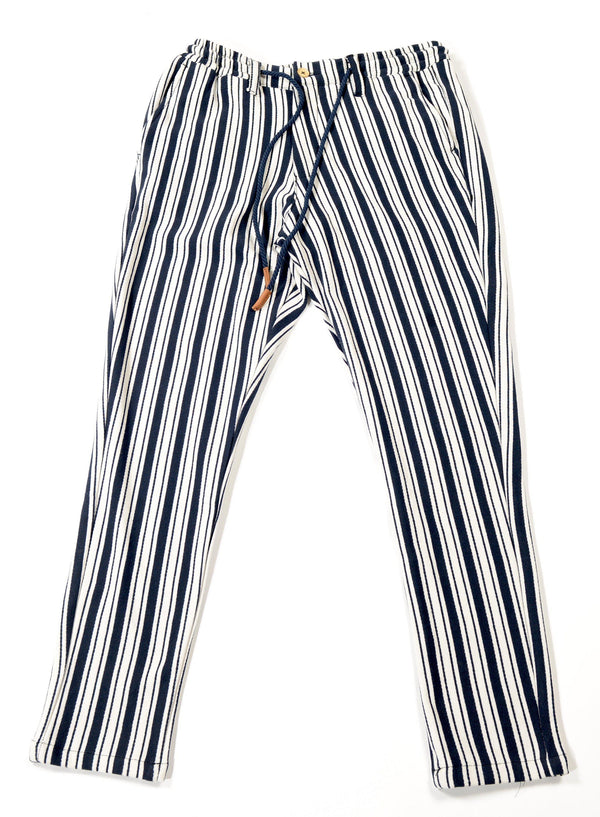 Striped Nautical Trouser - Navy - Ron Tomson
