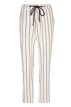 Striped Nautical Trouser - Stone
