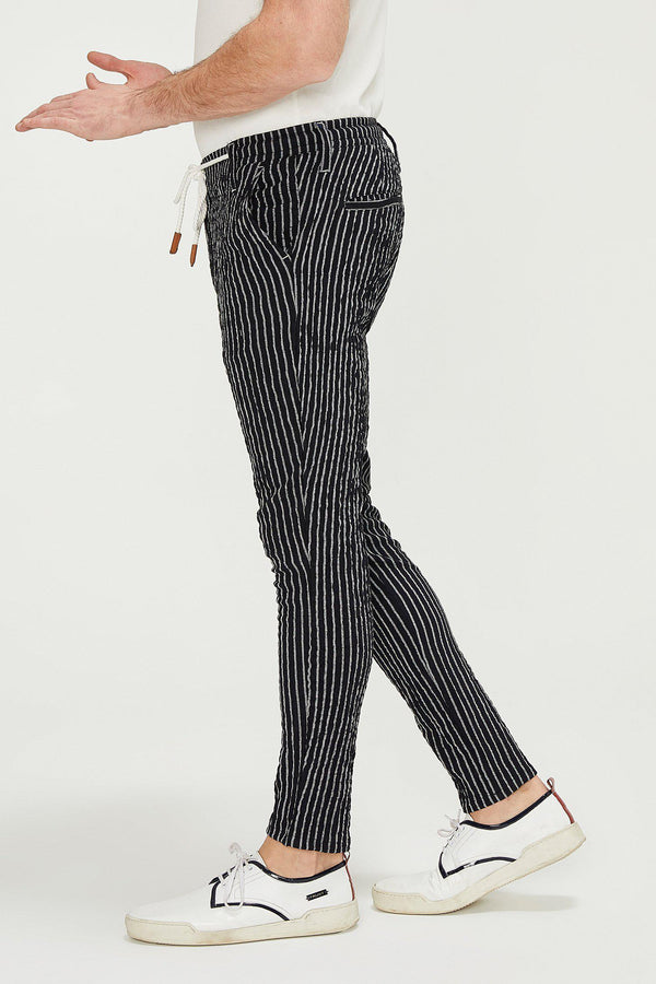 Striped Pants - Black White - Ron Tomson