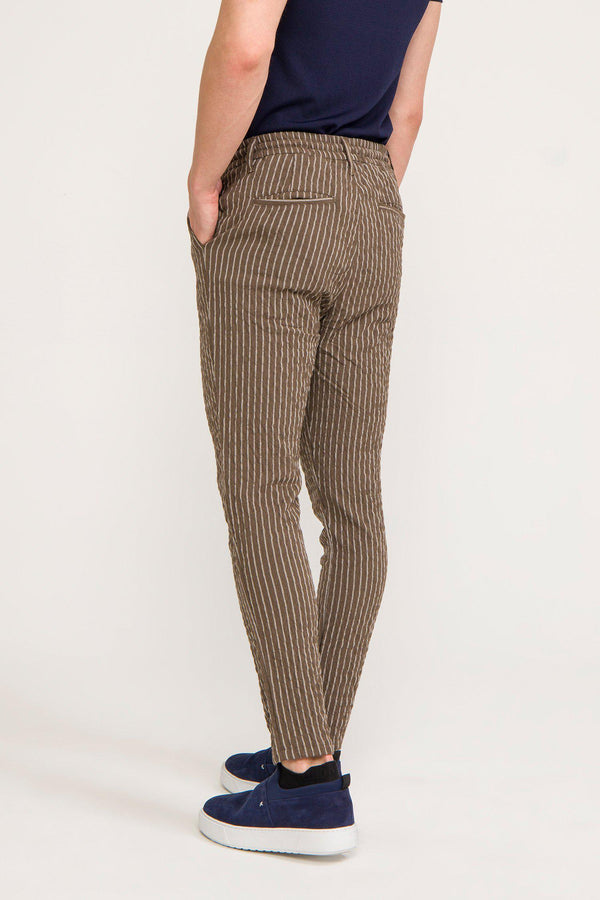 Striped Pants - Khaki