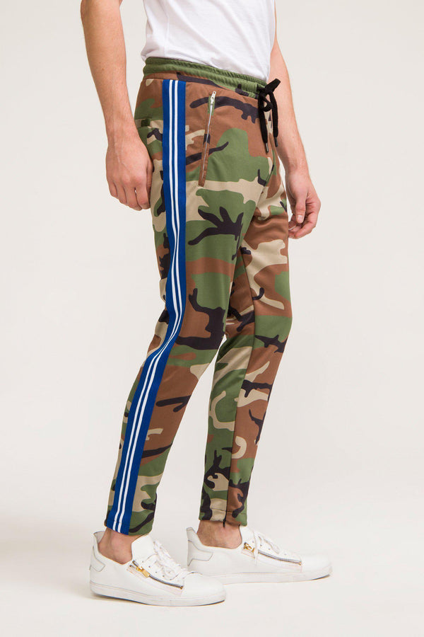 Striped Urban Track Pants - Camo - Ron Tomson