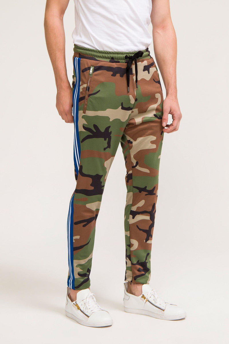 Striped Urban Track Pants - Camo