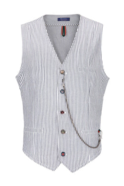 Striped Vest - Dark Navy