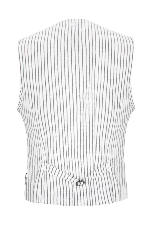 Striped Vest - White Black
