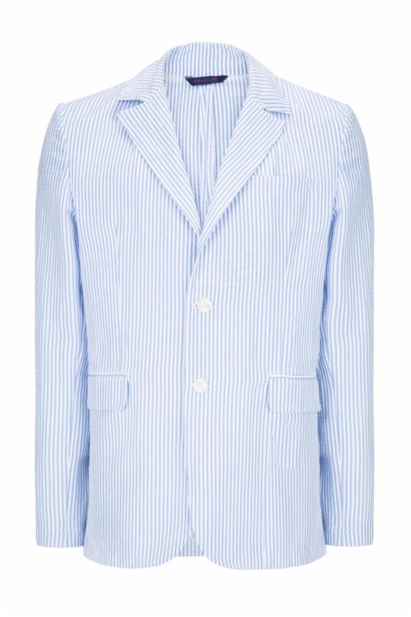 SUMMER STRIPED BLAZER - BLUE