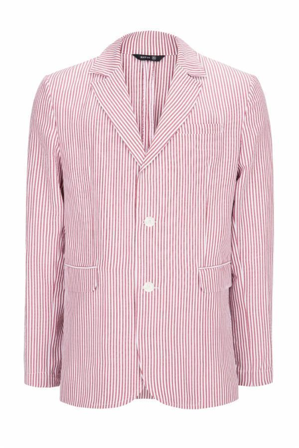 SUMMER STRIPED BLAZER - WINE