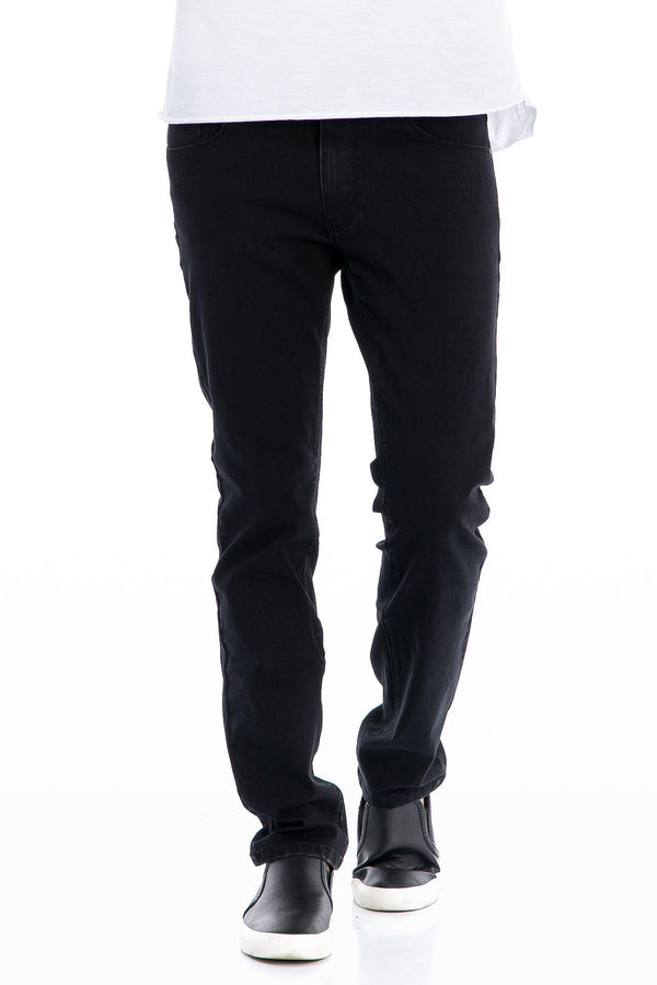 Super Stretch Tapered Jeans - Black