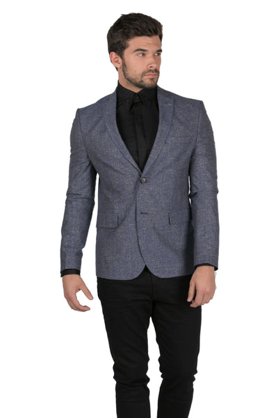 Tailored Men's Jacket-Jackets-RON TOMSON-NAVY-M-Ron Tomson