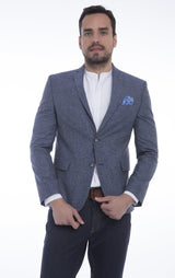 TAILORED MEN'S JACKET - SAX - Ron Tomson