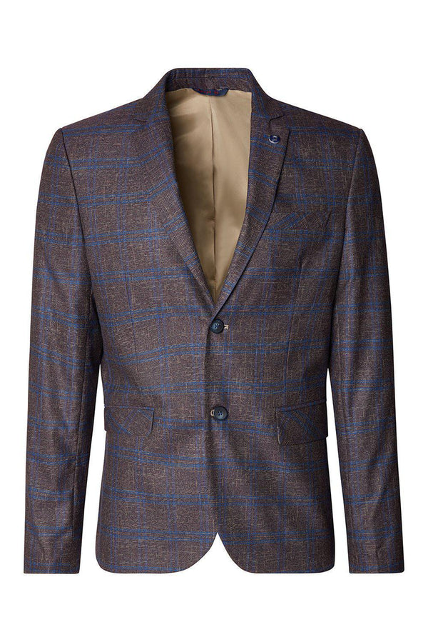 Tailored Men's Jacket - Wine - Ron Tomson