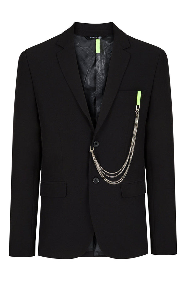 Tech Two Button Blazer - Black - Ron Tomson