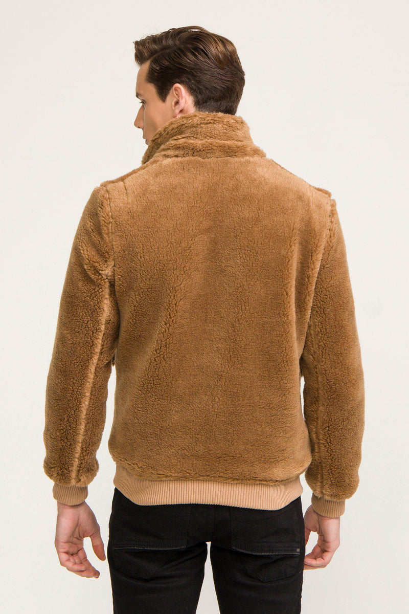 Teddy Bomber Jacket  - Camel - Ron Tomson