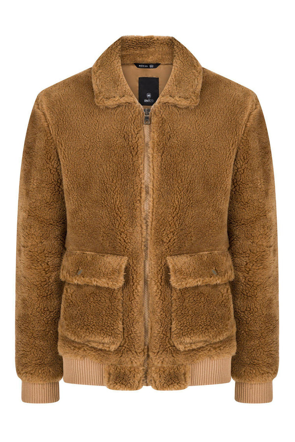 Teddy Bomber Jacket  - Camel