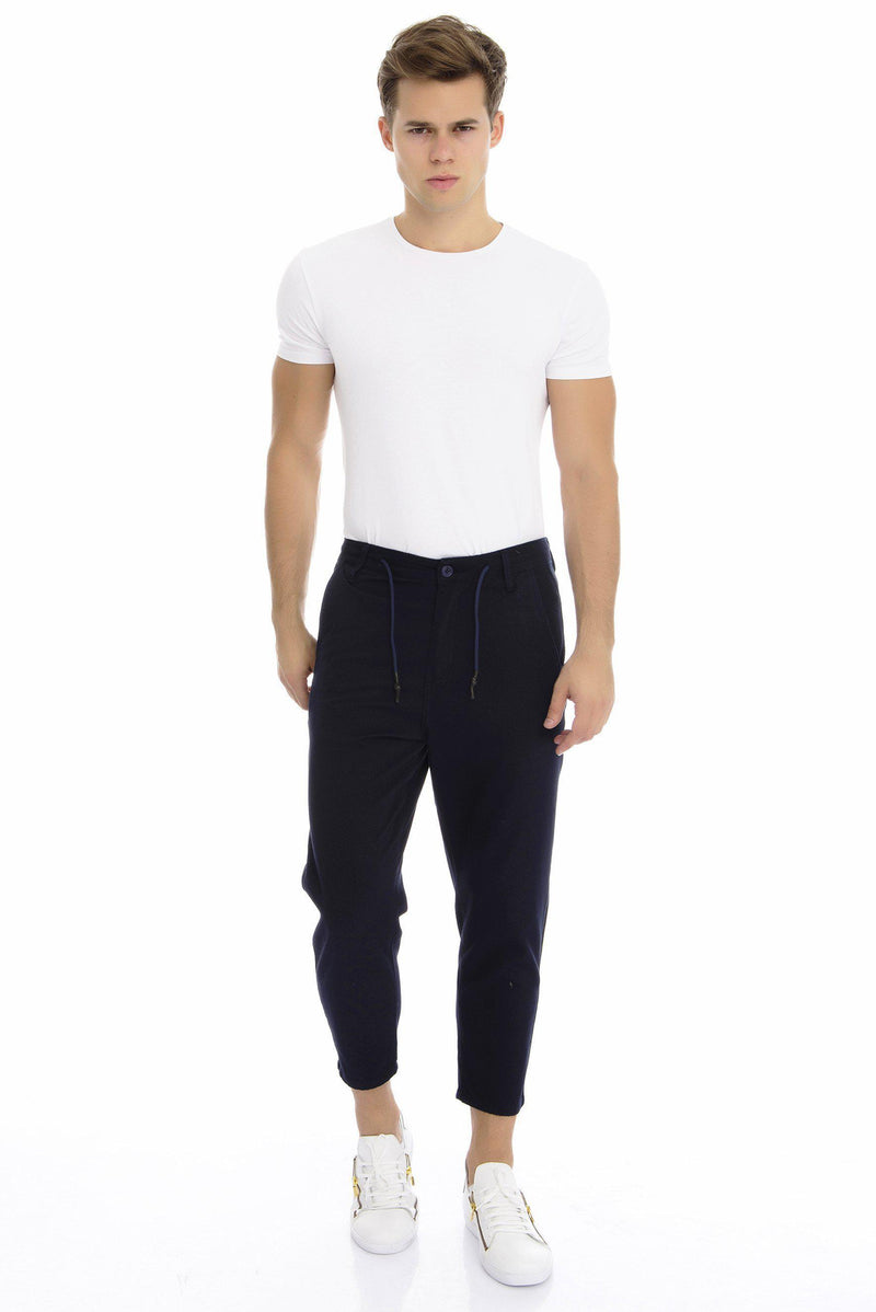 Textured Cropped Jogger - more colors-Jeans-Ron Tomson-BLACK-S-Ron Tomson