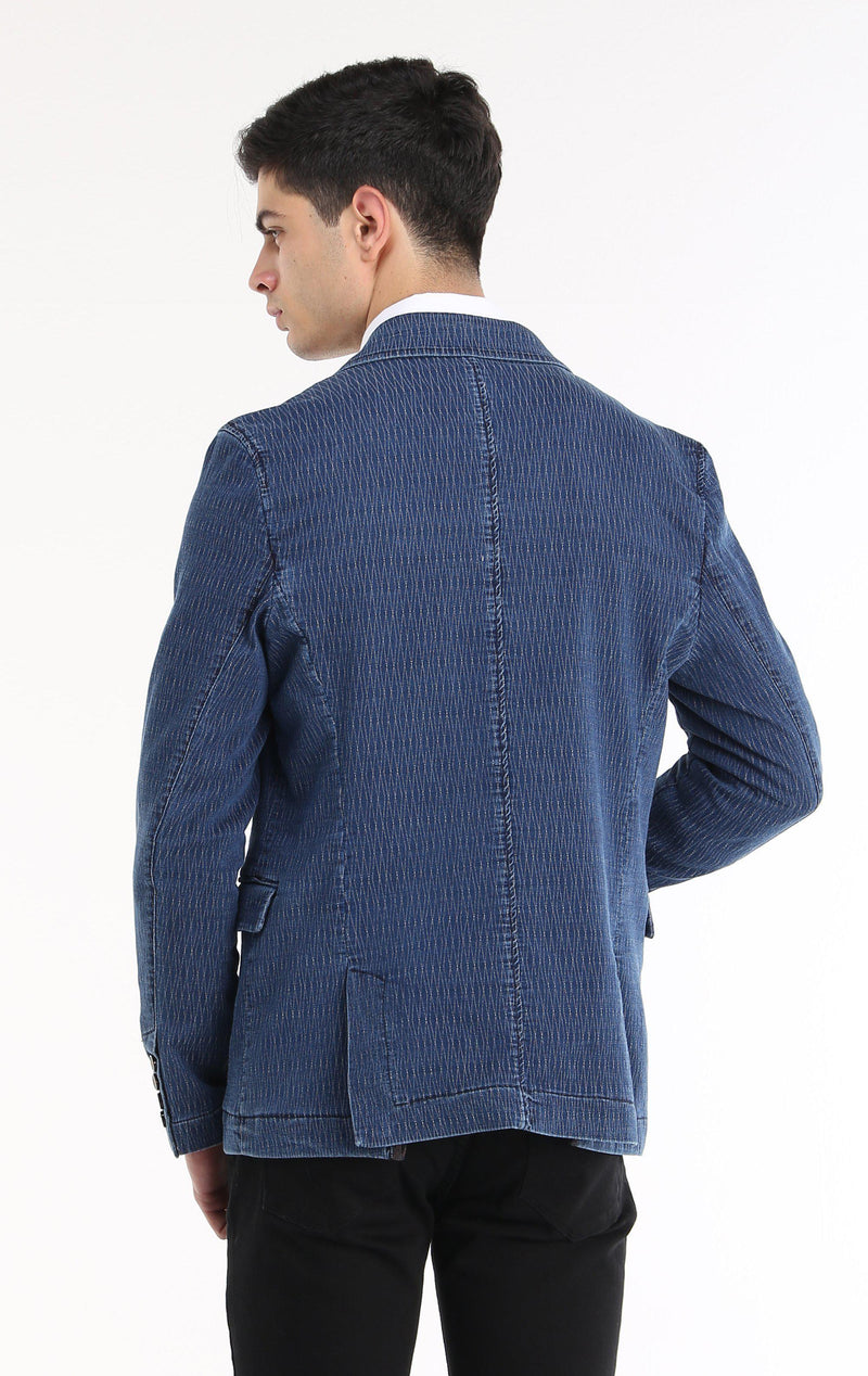 TEXTURED FITTED SPORT COAT - NAVY - Ron Tomson