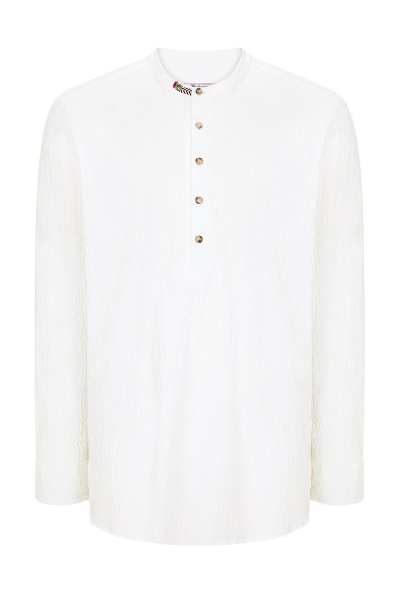 Textured Lightweight Shirt  - ECRU - Ron Tomson