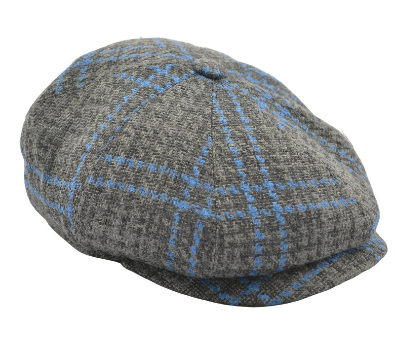 Thomas Newsboy Flat Cap - Grey Windowpane