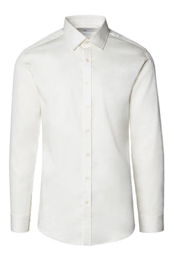Spread Collar Dress Shirt - More Colors-Shirts-Ron Tomson-BEIGE-S-Ron Tomson
