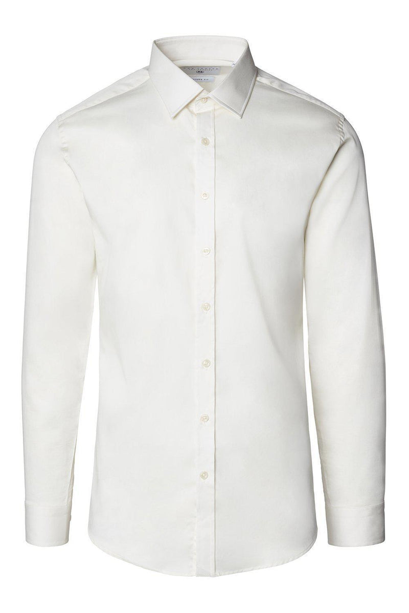 Tonal Accents Dress Shirt - Beige - Ron Tomson